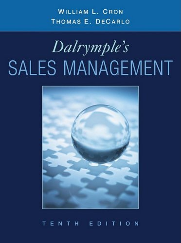 Dalrymple's Sales Management: Concepts and Cases 9780470169650