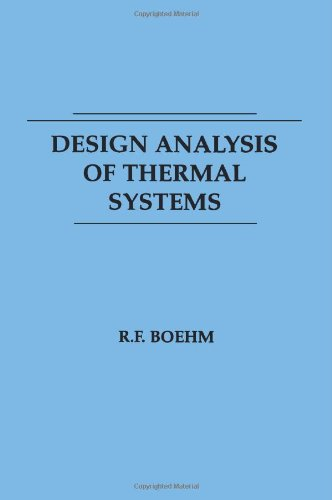Design Analysis of Thermal Systems