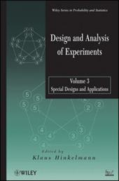 Design and Analysis of Experiments, Special Designs and Applications 16406883