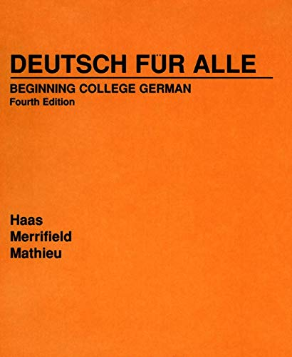 Deutsch Fr Alle: Beginning College German 9780471573814