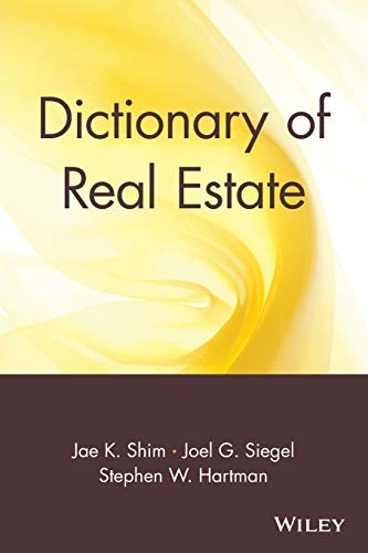 Dictionary of Real Estate 9780471013358