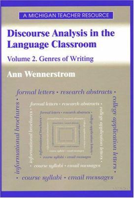 Discourse Analysis in the Language Classroom: Volume 1. the Spoken Language 9780472085415