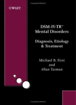 Dsm-IV-Trmental Disorders: Diagnosis, Etiology and Treatment 9780470860892