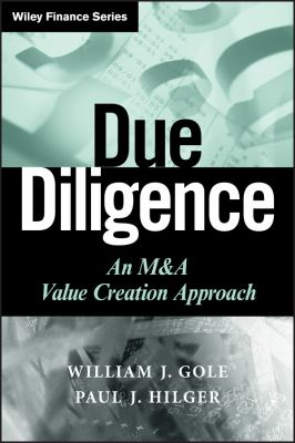 Due Diligence: An M&A Value Creation Approach 9780470375907