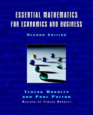 Essential Mathematics for Economics and Business 9780470844663