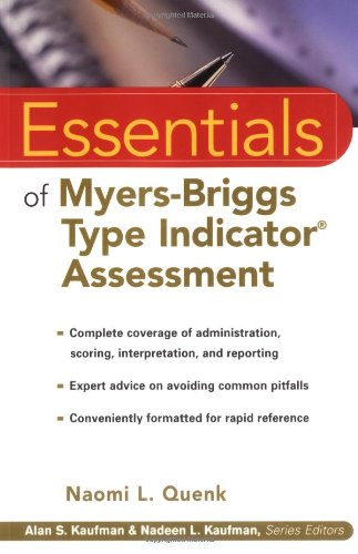 Essentials of Myers-Briggs Type Indicator Assessment 9780471332398