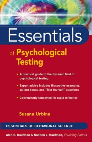 Essentials of Psychological Testing 9780471419785
