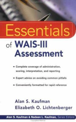 Essentials of WAIS -III Assessment 9780471282952