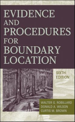 Evidence and Procedures for Boundary Location 9780470404782