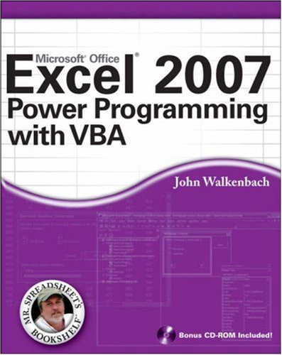 Excel 2007 Power Programming with VBA [With CDROM] 9780470044018