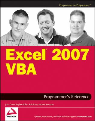 Excel 2007 VBA Programmer's Reference 9780470046432