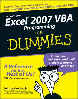 Excel 2007 VBA Programming for Dummies 9780470046746