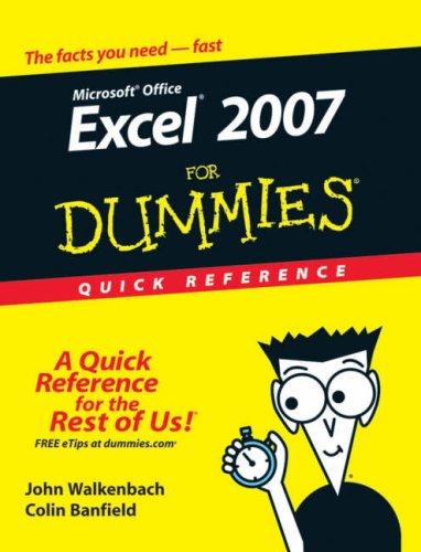 Excel 2007 for Dummies Quick Reference 9780470046715