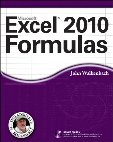 Excel 2010 Formulas [With CDROM] 9780470475362