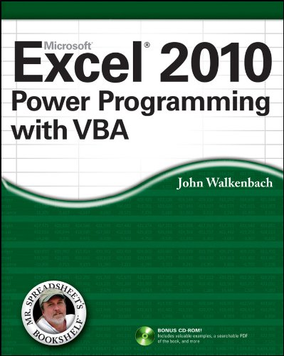 Excel 2010 Power Programming with VBA 9780470475355