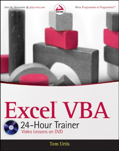 Excel VBA 24-Hour Trainer [With DVD ROM] 9780470890691