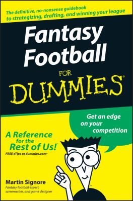 Fantasy Football for Dummies 9780470125076