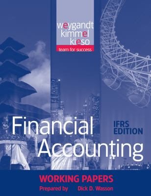 Financial Accounting, Working Papers: Ifrs Edition 9780470607275