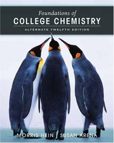 Foundations of College Chemistry 9780471779919