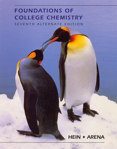 Foundations of College Chemistry 9780470004289