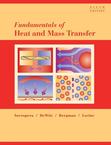 Fundamentals of Heat and Mass Transfer 9780471457282