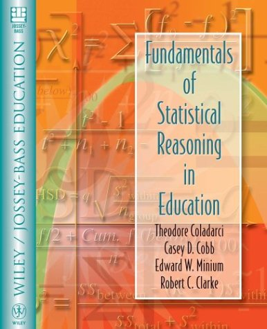 Fundamentals of Statistical Reasoning in Education 9780471069720