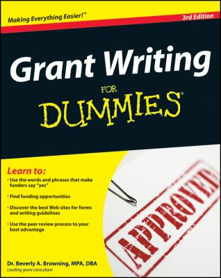 Grant Writing for Dummies 9780470291139