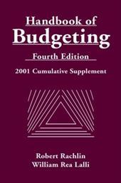 Handbook of Budgeting, 2001 Cumulative Supplement