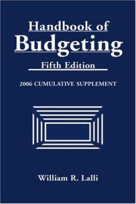 Handbook of Budgeting: Cumulative Supplement 9780471728863