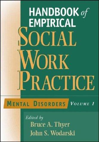 Handbook of Empirical Social Work Practice, Mental Disorders 9780471654339