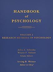 Handbook of Psychology, Volume 2: Research Methods in Psychology