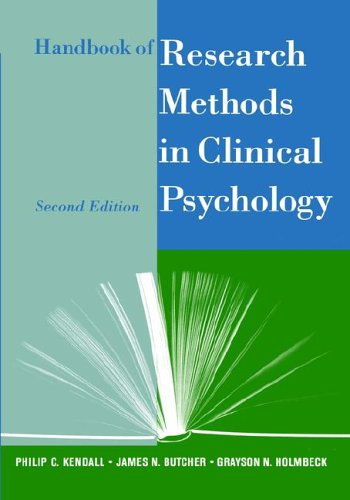 Handbook of Research Methods in Clinical Psychology 9780471295099