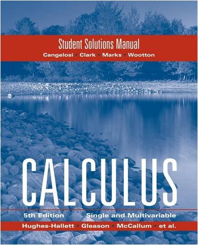 Student Solutions Manual to Accompany Calculus Combo 9780470414149