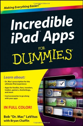 Incredible iPad Apps for Dummies 9780470929797