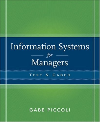 Information Systems for Managers: Texts & Cases 9780470087039