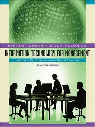 Information Technology for Management: Improving Performance in the Digital Economy 9780470287484