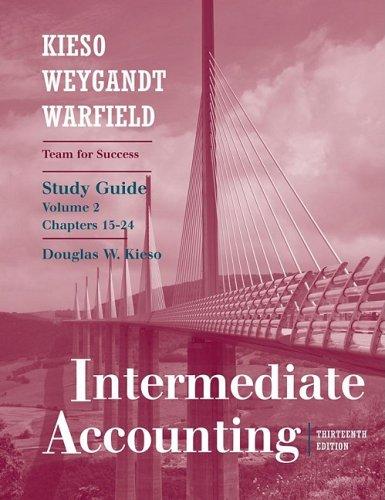 Intermediate Accounting, Volume II: Chapters 15-24 9780470380604