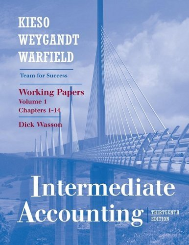 Working Papers Chapters 1-18 to accompany Accounting Principles, 11th Edition