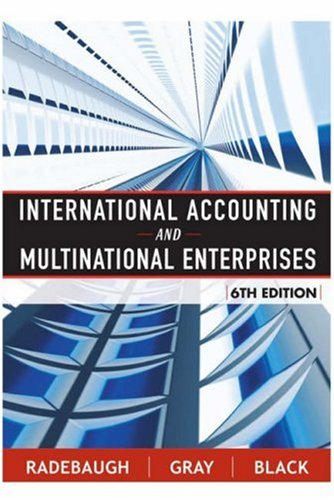 International Accounting and Multinational Enterprises 9780471652694