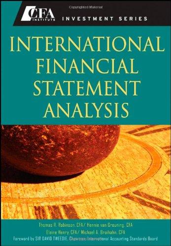 International Financial Statement Analysis 9780470287668