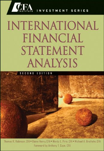 International Financial Statement Analysis 9780470916629