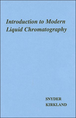 Introduction to Modern Liquid Chromatography 9780471038221