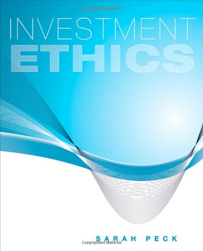 Investment Ethics 9780470434536