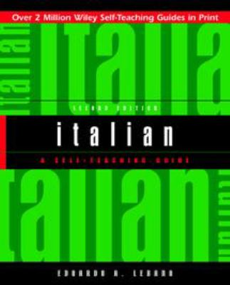 Italian: A Self-Teaching Guide 9780471359616