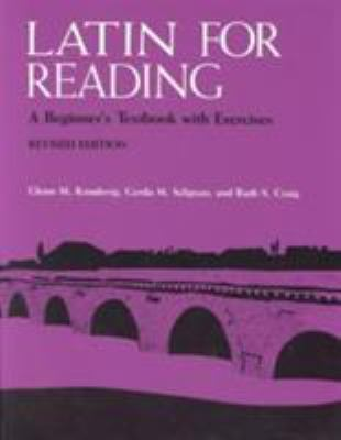 Latin for Reading: A Beginner's Textbook with Exercises 9780472080649