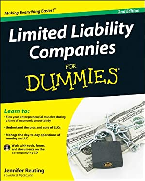Limited Liability Companies for Dummies [With CDROM] 9780470881422