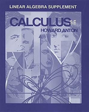 Calculus with Analytic Geometry, Linear Algebra Supplement 9780471106777