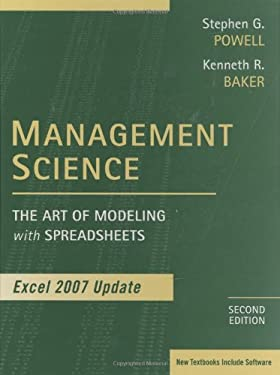 Management Science: The Art of Modeling with Spreadsheets, Excel 2007 Update [With CDROM] 9780470393765