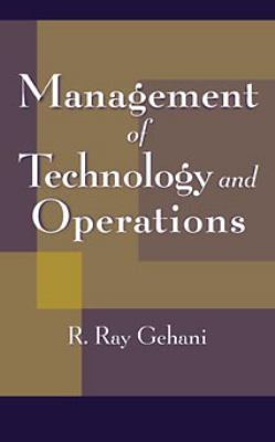 Management of Technology and Operations 9780471179061