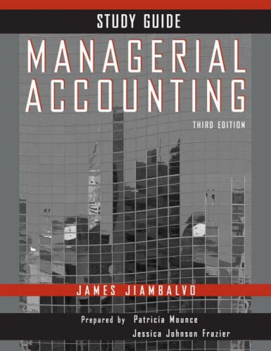 Managerial Accounting 9780470087404